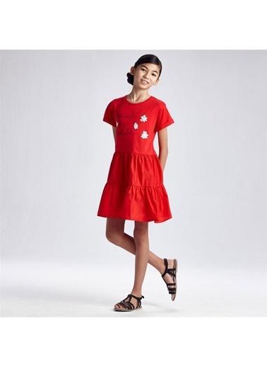 Mayoral Mayoral Kiz Çocuk Elbise Kırmızı 20061 Kırmızı